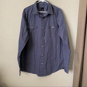 KR3W Blue Button Down Shirt XL